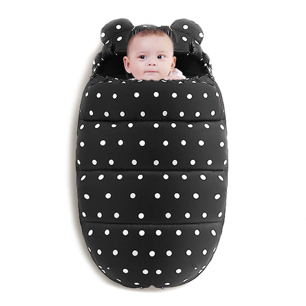 Baby Sleeping Bag,Baby Sleeping Bag for Camping Winter Outdoor Travel Waterproof Baby Stroller Sleeping Bag Wearable Stroller Blanket (Dots)