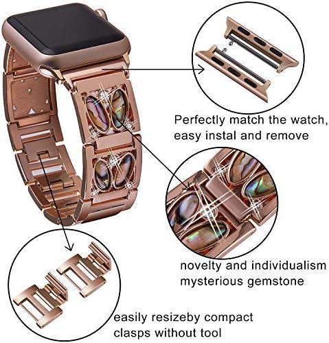 Amazon.com: VIQIV Bandas de pulsera para Apple Watch ...