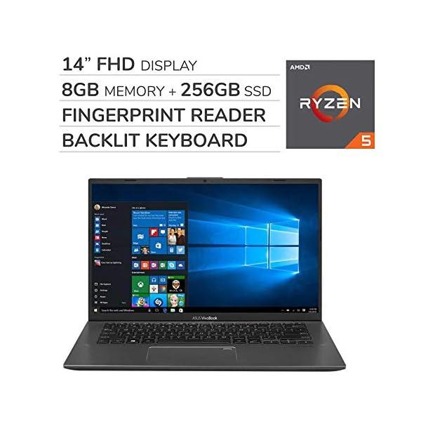 ASUS VivoBook F412DA 2019 Premium 14'' FHD Laptop Notebook Computer, 4-Core AMD Ryzen 5-3500U 2.0GHz, 8 GB RAM, 256GB SSD, No DVD, Backlit Keyboard, Wi-Fi, Bluetooth, Webcam, HDMI, Windows 10 Home 1