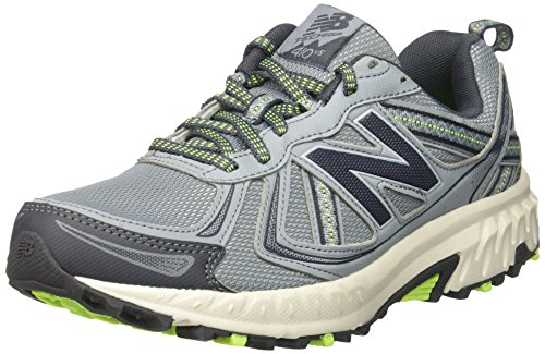 New Balance Women's WT410v5 Cushioning Trail Running Shoe, Light Grey, 8 D US