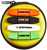#3: Tennis Vibration Dampener in Funny Zipper Gift Pack (Pack of 4). Best Shock Absorber for Your Racket and Strings