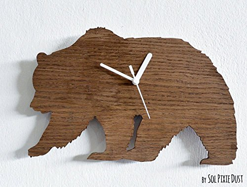 Bear Silhouette - Wooden Wall Clock -