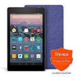 Fire HD 8 Protection Bundle with Fire HD 8 Tablet (32 GB, Black), Amazon Cover (Cobalt Purple) and Protection Plan (2-Year)