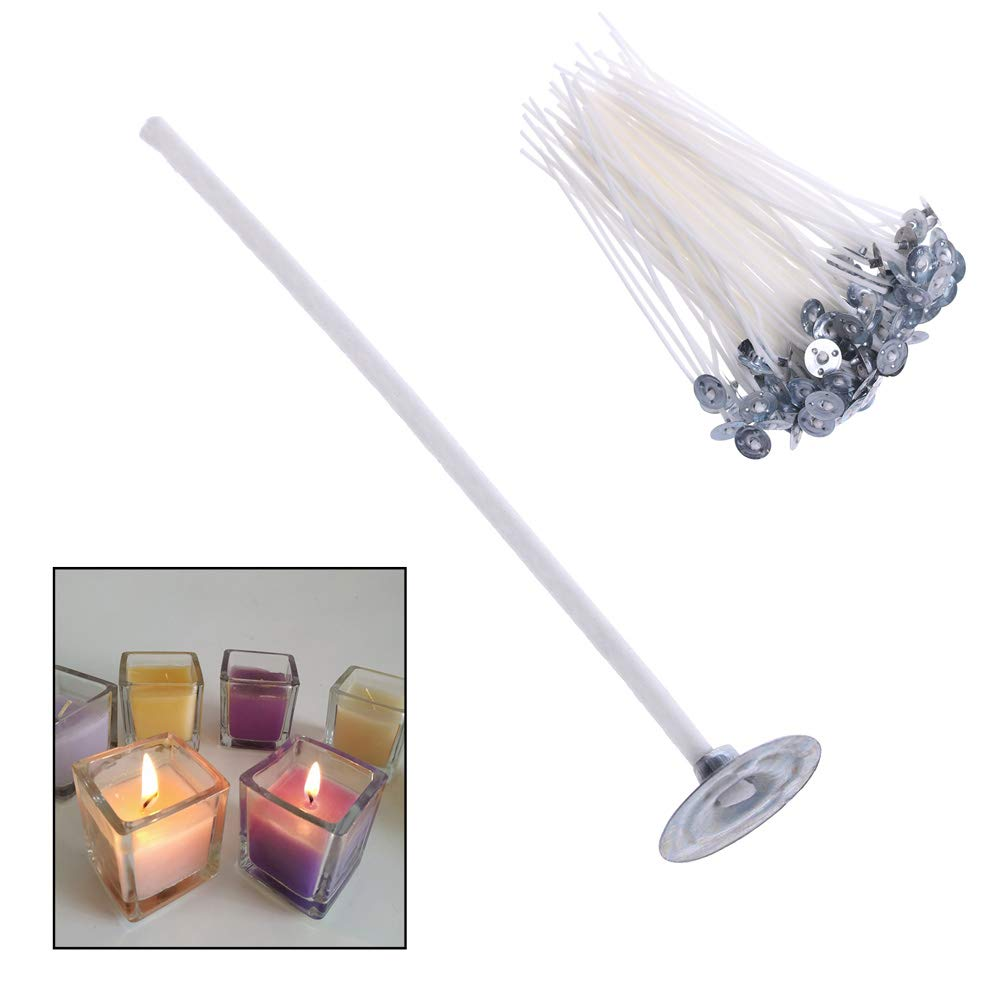 skonhed Candle Wicks 100PCS 2.6cm 100pcs Handmade DIY Candle Making Supplies Smokeless with Sustainer Cotton Core