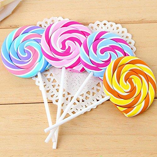 Award Eraser - 3Pcs Colorful Sweet Lollipop Shape Eraser Child Festival Award School Stationery - Random Color