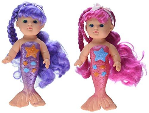 Toysmith Bathtime Mermaid Doll (2-Pack) -