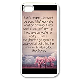Custom Phone Case With quotes of love Image - Nice Designed For iPhone 4,4S
