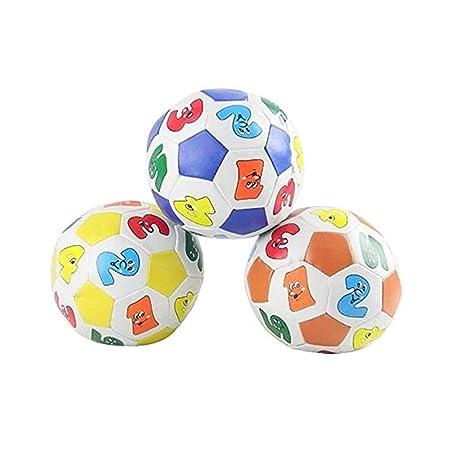 Naisicatar 10CM Mini Pelota de Juguete Suave de Colores Niños de Juguetes educativos del bebé Aprendizaje Número de Goma Bola de Juguete Cubierta ...