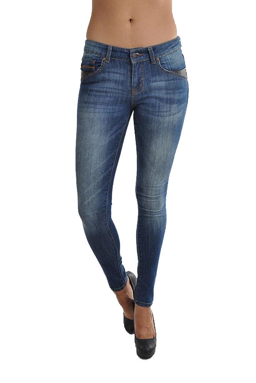 Nine Planet Women's Stretch Skinny Jean With 5 Pockets