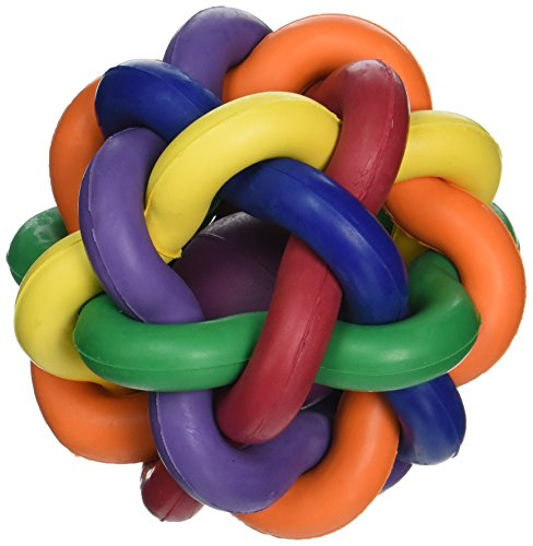 Multipet Nobbly Wobbly Ball with Bell, 4