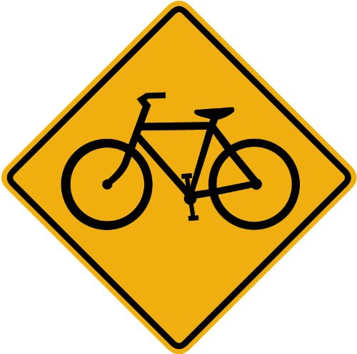 Street & Traffic Sign Wall Decals - Bicycle Symbol Sign - 12 inch Removable (Bicycle Advertisement Poster)