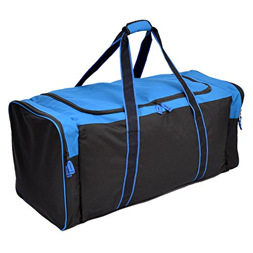 Jetstream 36 Inch 3-Pocket Hockey Equipment Duffle Bag (Blue) (Best Hockey Equipment Bag)