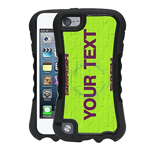 BleuReign(TM) Personalized Custom Name Superhero Series: Incredible Smash Bash Green License Plate 2-Piece Dual Layer Phone Case Back Cover For Apple iPod Touch 5th Generation - Personalized Incredible Hulk