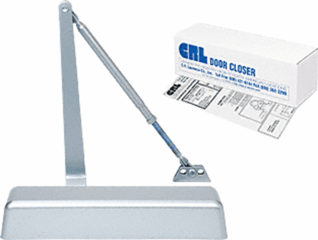 CRL PR50 Aluminum Finish Adjustable Spring Power Size 1 - 4 Surface Mount Door Closer by C.R. Laurence (Image #1)