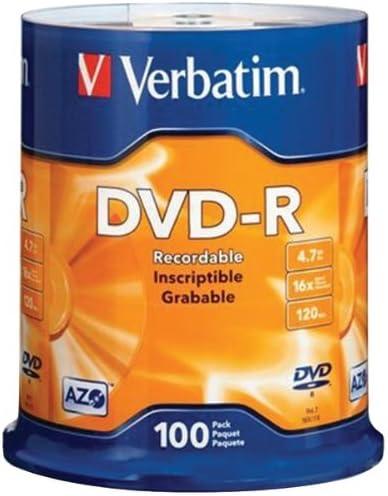 Verbatim 95102 4.7 GB dvd-rs ( 100-ctスピンドル)消費者電子