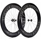 88mm carbon wheels - VCYCLE Nopea 700C 88mm Carbon Road Bike Wheel Set Clincher for Shimano or Sram 8/9/10/11 Speed