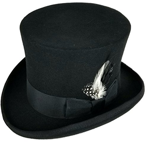 SHAHIN Differenttouch 100% Wool Felt Top Hats Victorian Style Made Hatter 6