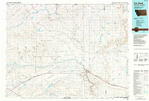 Cut Bank Mt Topo Map  1 100000 Scale  30 X 60 Minute  Historical  1984  Updated 1984  24 1 X 35 5 In   Tyvek