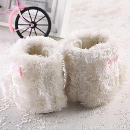 Saingace Bébé Filles Garçons Doux Bottes de Neige Uniques Chaussures de Berceau Doux (11(11cm/0-6mois))