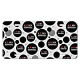 I Love My Schnoodle Stylish Novelty Metal Vanity License Tag Plate