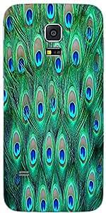 Snoogg Pavo Real Patrón 2 Diseñador Protectora Volver Funda Para Samsung Gala...