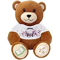 Music Girl DJ Bear Ultra-portable Wireless Bluetooth Teddy Bear Speaker,recordable Stuffed Animal Compatible with All Bluetooth Devices