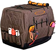 Mud River Dixie Kennel Cover, Brown, Medium/32-Inch X 23-Inch X 25-Inch