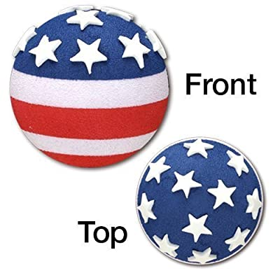 Tenna Tops Patriotic USA American Flag Car Antenna Topper / Rear View Mirror Dangler / Desktop Spring Stand Bobble: Automotive