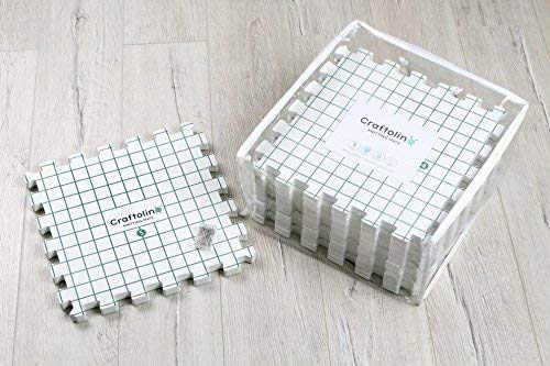 Blocking Mats for Knitting - 9 Extra Thick Boards With 1 Inch Spaced Grid - For Needlepoint or Crochet - Includes 150 Stainless T-Pins and Convenient Storage Bag With Handles by Craftolino (Image #9)