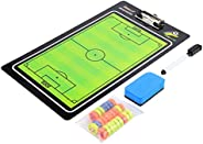 Soccer Magnetic Coaching Board, Football Soccer Dry Erase Coaching Magnetic Tactic Clipboard with Magnets, Boa