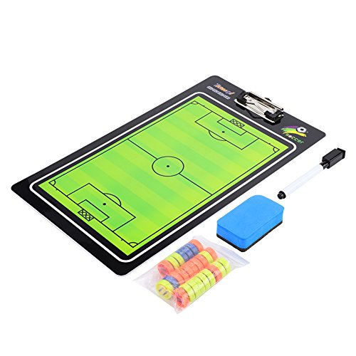 VGEBY Soccer Magnetic Coach Board, Football Soccer Dry Erase Coaching Magnetic Tactic Clipboard with Magnets, Board Wiper, Pen