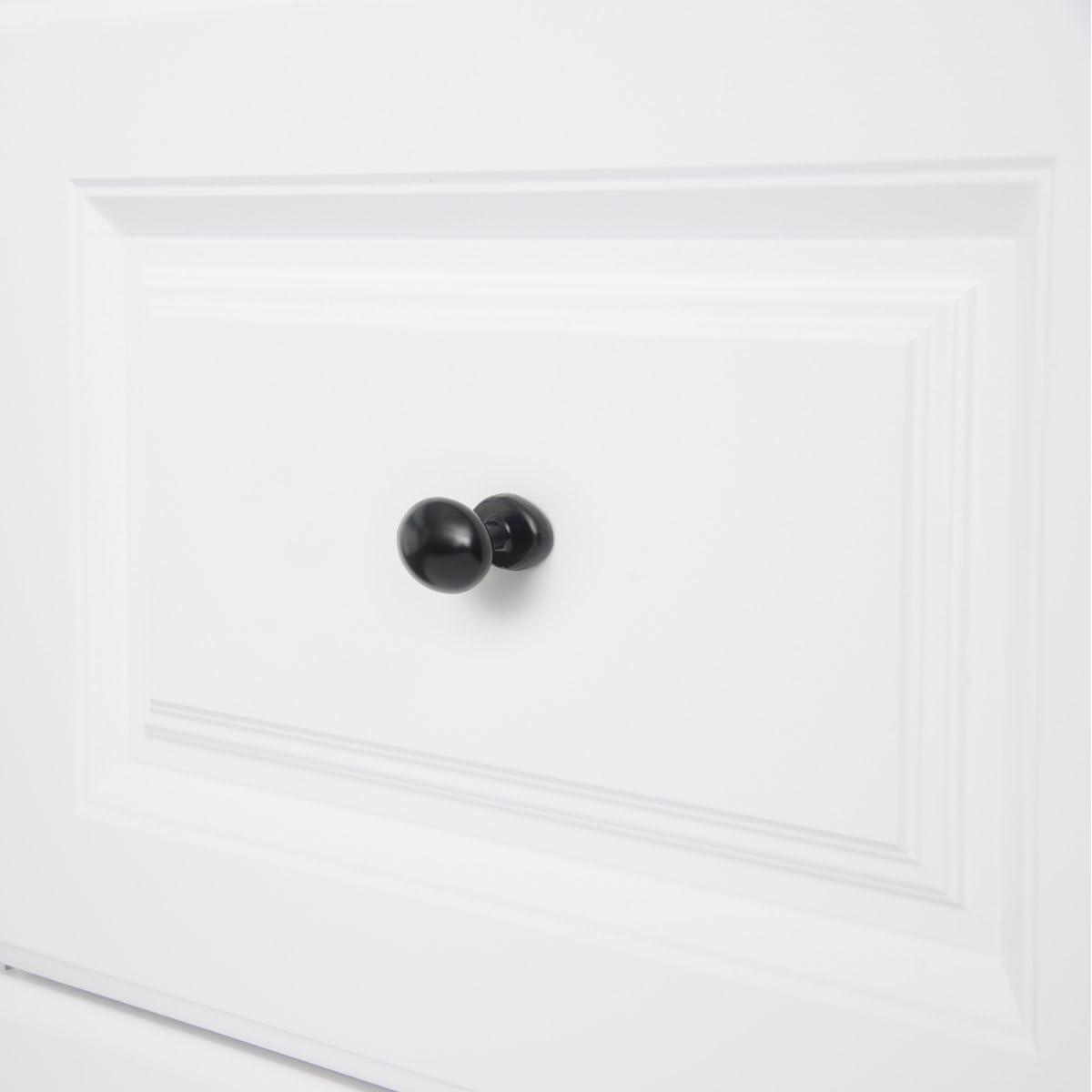 Chrome poli Basics Bouton de placard Ovale Diam/ètre : 3,59 cm Lot de 10
