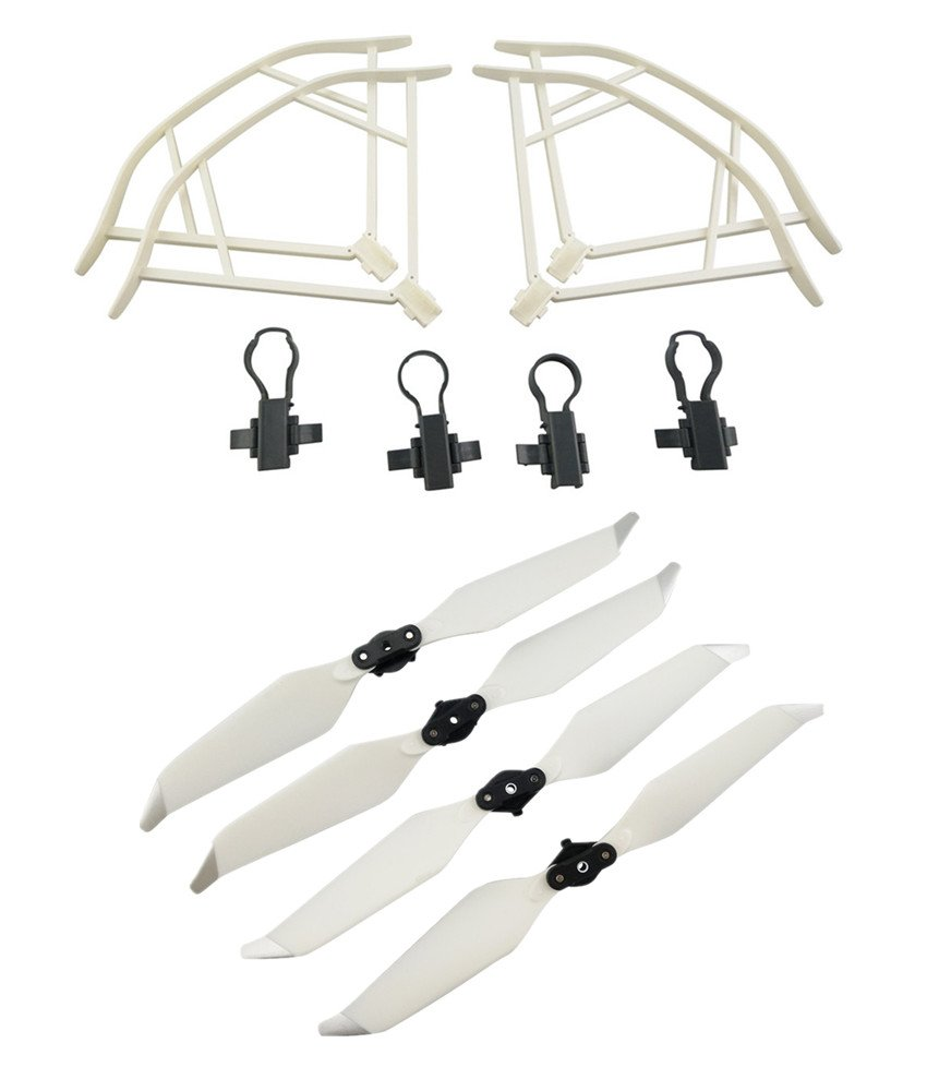Upgraded Propellers for DJI Mavic Pro 8331 8331F Low-Noise Quick-release Folding Propellers Prop Guard Bumper Rc Quadcopter Spare Part Set (White)