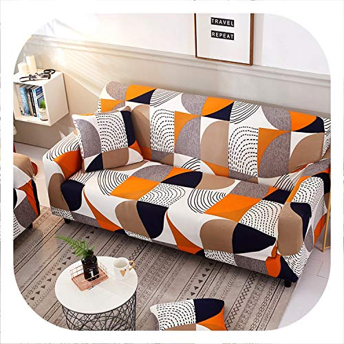 Geometric Elastic Sofa Cover Two and Three Seats Modern Living Room Slipcover Stretch Furniture Case L Shaped Corner Couch Cover,2,Single Seater
