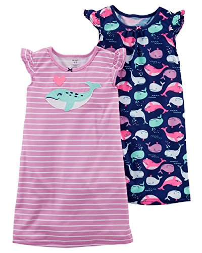 . Neon Whale Sleep Gowns M (6/7) (Girls Whale)