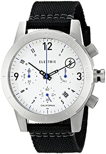 Electric Men s EW0020020015 FW02 Nato Band Analog Display Japanese Quartz Black Watch