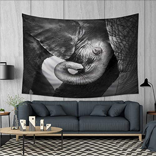 Anhuthree Elephant Wall Hanging Tapestries Baby Elephant See