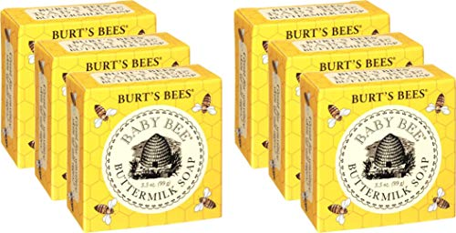 Burts Bees Baby Bee Buttermilk Soap, 3.5-Ounce Bars (Pack of 6)