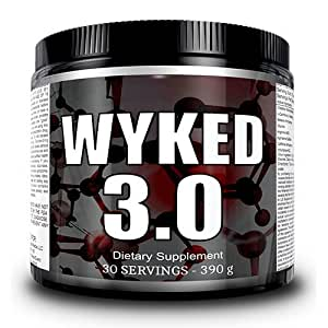 Liquid Labs Wyked 3.0 Pre-workout Pump & Fat Burner Powder - MASSIVE ENERGY - 30 Day Supply