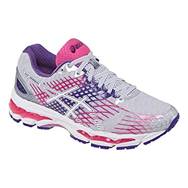 ASICS Women's Gel-Nimbus 17 Running Shoe,Lightning/White/Hot Pink,