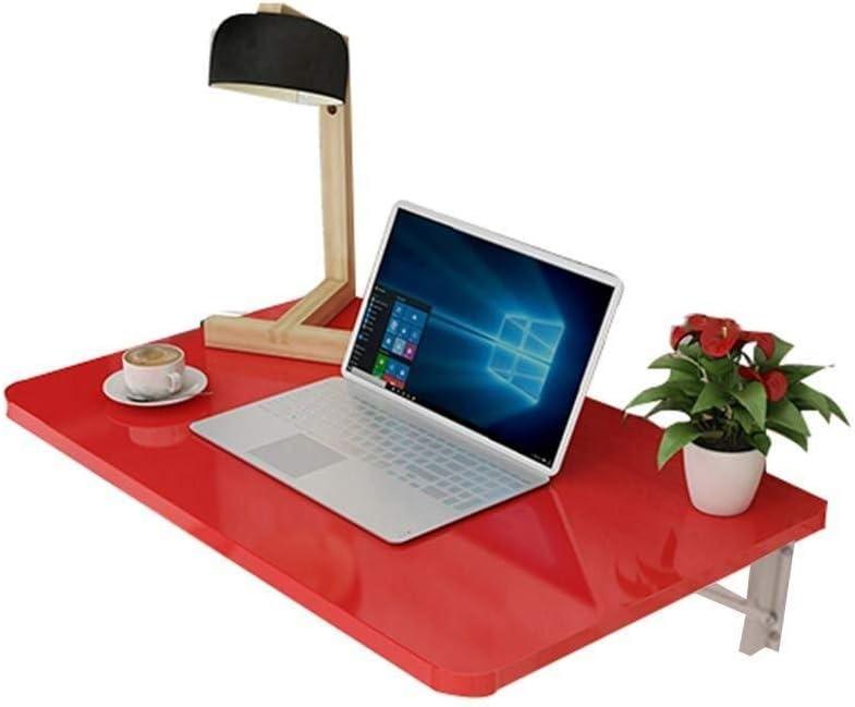ラップトップテーブルウォールマウントテーブルラップトップスタンド折りたたみデスクStuDeskホワイト、組み立てが簡単(色:赤、サイズ:70X40cm)