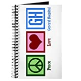 CafePress - General Hospital Journal - Spiral Bound Journal Notebook, Personal Diary, Blank
