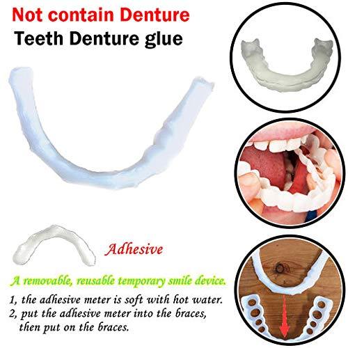Expxon Pegamento de la dentadura de los Dientes cosméticos de la Comodidad Temporal de la Sonrisa de 1pc Pegamento