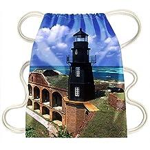 iRocket - fort jefferson lighthouse dry tortugas national park florida - Drawstring Backpack Sack Bag