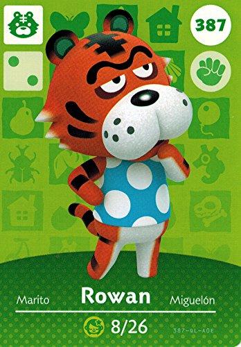 Rowan Designer - Nintendo Animal Crossing Happy Home Designer Amiibo Card Rowan 387/400 USA Version