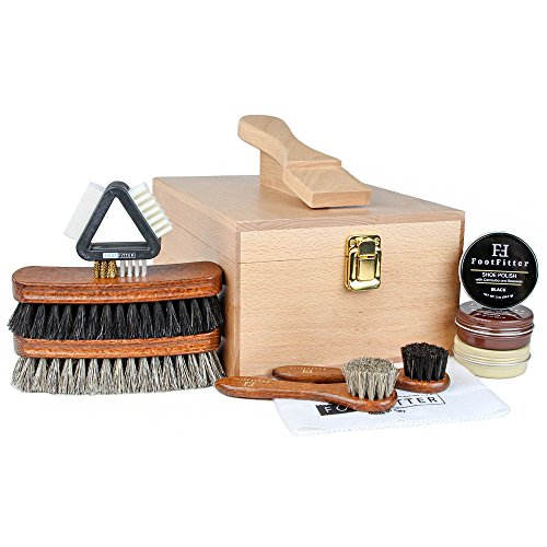 FootFitter Deluxe Shoe Shine Set- Essential Shoe Care Kit!