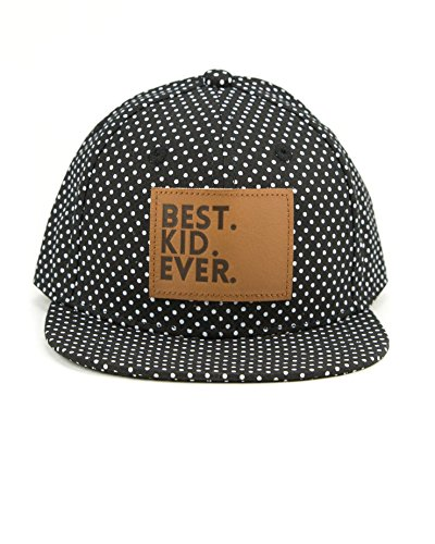Awesome Flat Caps - Littlest Prince Couture Best Kid Ever Snapback Hat Black Dot Size Medium
