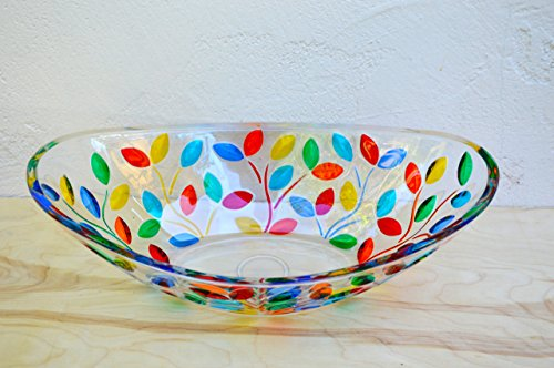 Murano Glass Flowervine Oval Bowl