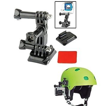 Cameras Gopro Accessories Adjustment Helmet Curved Adhesive Helmet Side Mount kit for Gopro HD Hero 1 2 3 3