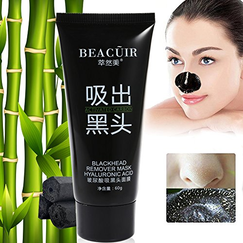 Fangfeo Blackhead Mask Peel off Mask Black Mud Face Mask Deep Cleansing Facial Mask Purifying Charcoal Mask for Skin Oil Control Strawberry Nose